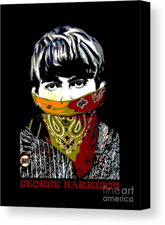 Bansky Canvas Print featuring the photograph George Harrison by RicardMN Photography