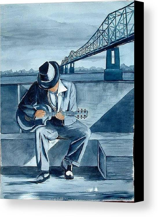 Blues Canvas Print featuring the painting Helena Blues by Diane Ziemski