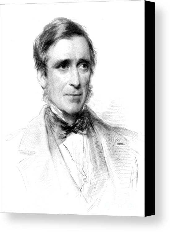 Science Canvas Print featuring the photograph James Paget, English Surgeon by Science Source