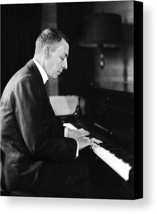 1930s Candid Canvas Print featuring the photograph Russian Composer And Pianist Sergei by Everett