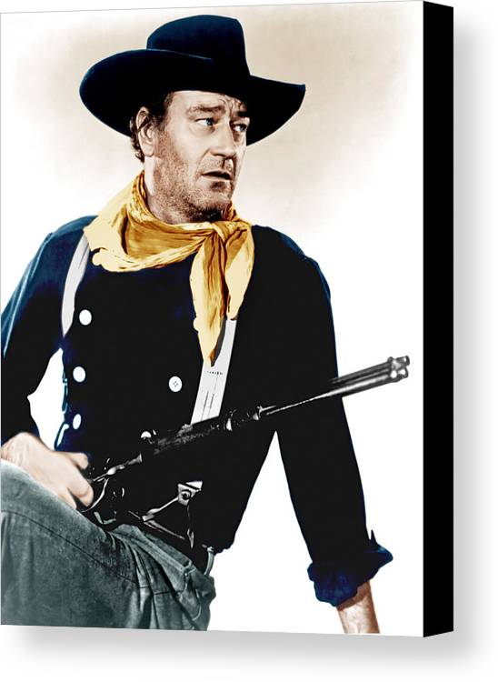 1950s Portraits Canvas Print featuring the photograph The Searchers, John Wayne, 1956 by Everett