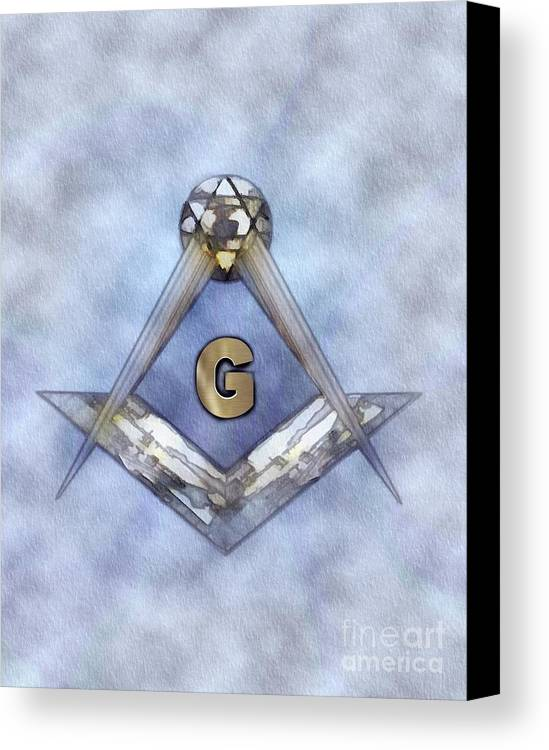 Symbol Canvas Print Featuring The Painting Freemason Mason Masonic Lodge By