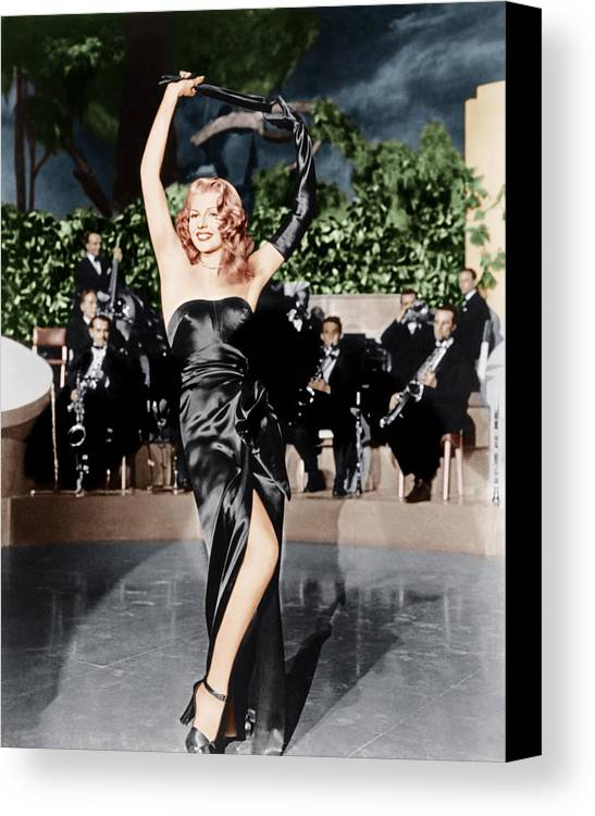 1940s Movies Canvas Print featuring the photograph Gilda, Rita Hayworth, 1946 by Everett