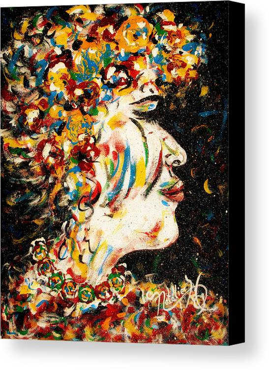 Woman Canvas Print featuring the painting Absolutely Not by Natalie Holland