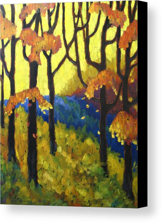 Art Canvas Print featuring the painting Abstract Forest by Richard T Pranke