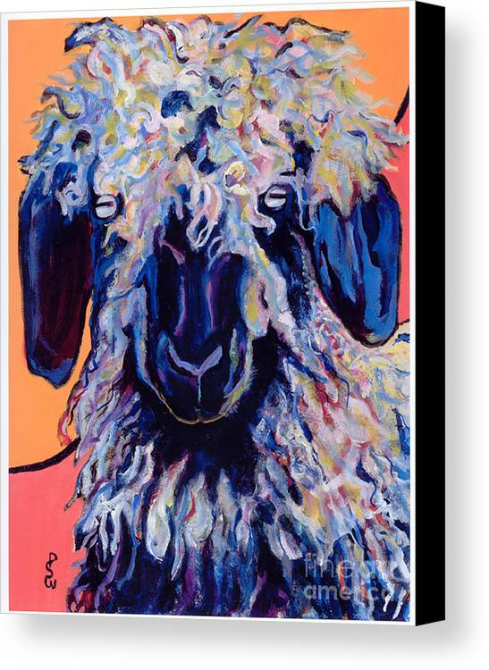 Goat Print Canvas Print featuring the painting Adelita  by Pat Saunders-White