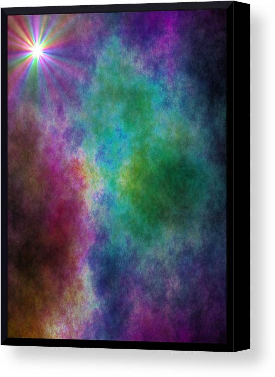 Canvas Print featuring the digital art After The Storm by Lisa Johnston
