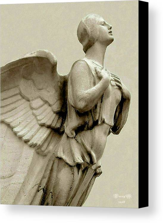 Angel Canvas Print featuring the digital art Angel by Terry Burgess