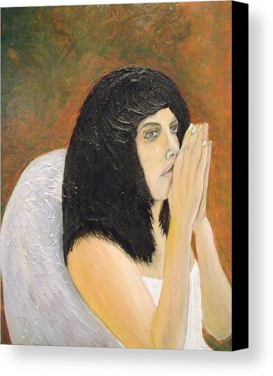 She Prays For All Mankind Canvas Print featuring the painting Annolita Praying by J Bauer