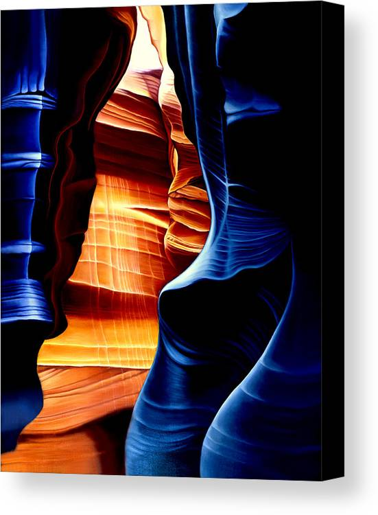 Landscape Canvas Print featuring the painting Antelope Canyon by Anni Adkins
