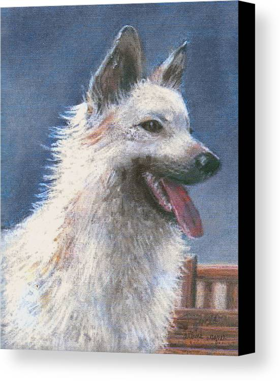 Dog Canvas Print featuring the pastel Anticipating Their Return by Arline Wagner