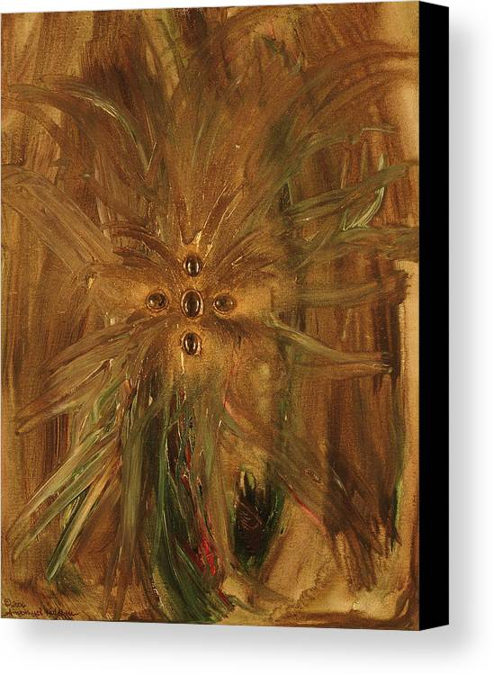 Angels Canvas Print featuring the painting Archangel Zadekial by Emerald GreenForest