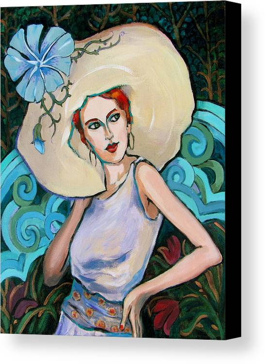 Portrait Canvas Print featuring the painting Art Nouveau by Dianna Willman