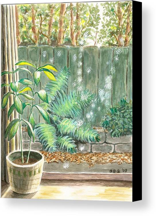 House Plants Canvas Print featuring the painting Autumn Light by George I Perez
