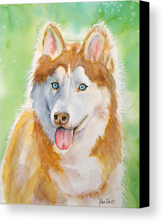 Canine Canvas Print featuring the painting Baby Blue by Gina Hall