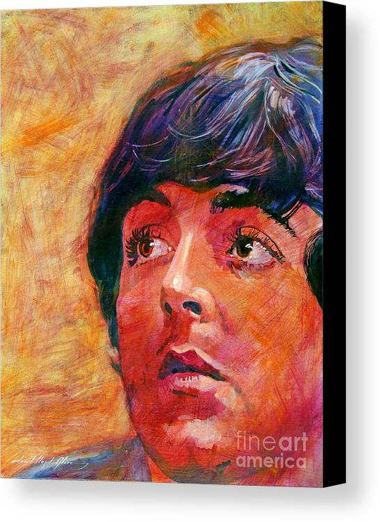 Paul Mccartney Canvas Print featuring the painting Beatle Paul by David Lloyd Glover