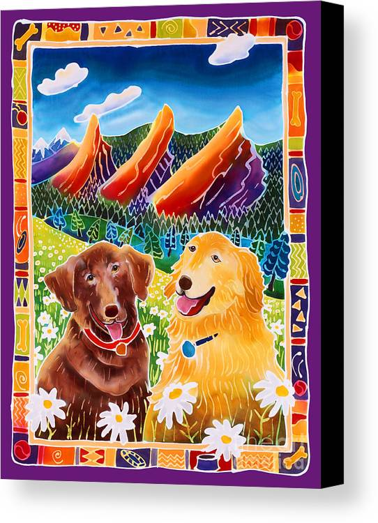 Dog Canvas Print featuring the painting Best Friends by Harriet Peck Taylor