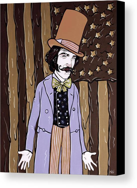 Gangs Of New York Canvas Print featuring the painting Billy Wonka One by Jason Wright