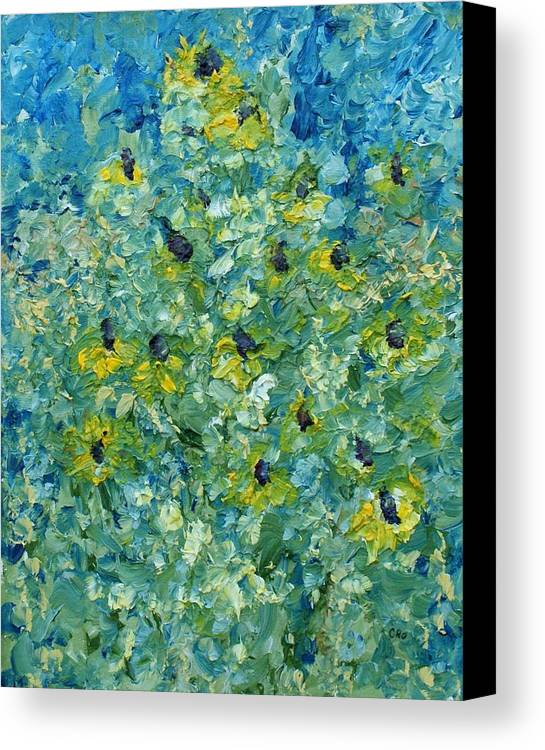Flowers Canvas Print featuring the painting Black-eyed Susans by Christopher O'Kelley