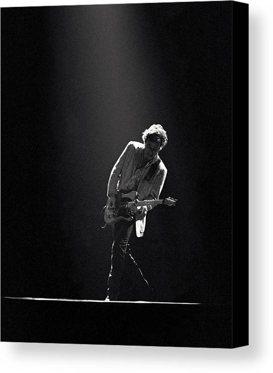 Bruce Springsteen Canvas Print featuring the photograph Bruce Springsteen In The Spotlight by Mike Norton