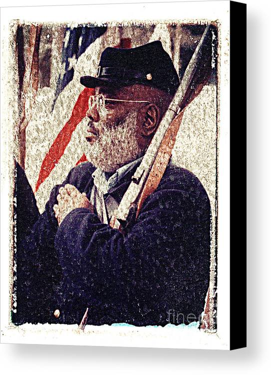 Buffalo Soldier Canvas Print featuring the photograph Buffalo Soldier by Keith Dillon