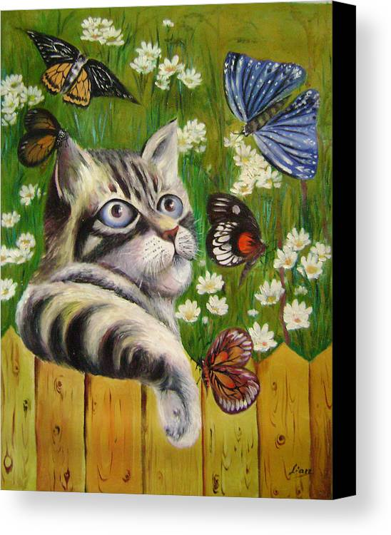Fantasy Canvas Print featuring the painting Butterfly Dream by Lian Zhen