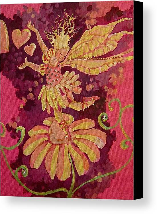 Canvas Print featuring the drawing Candy 3 by Jackie Rock