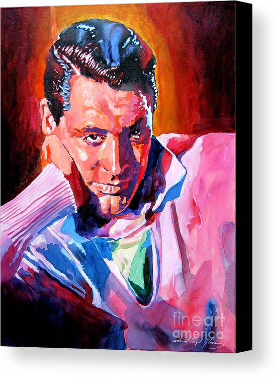 Cary Grant Canvas Print featuring the painting Cary Grant - Debonair by David Lloyd Glover