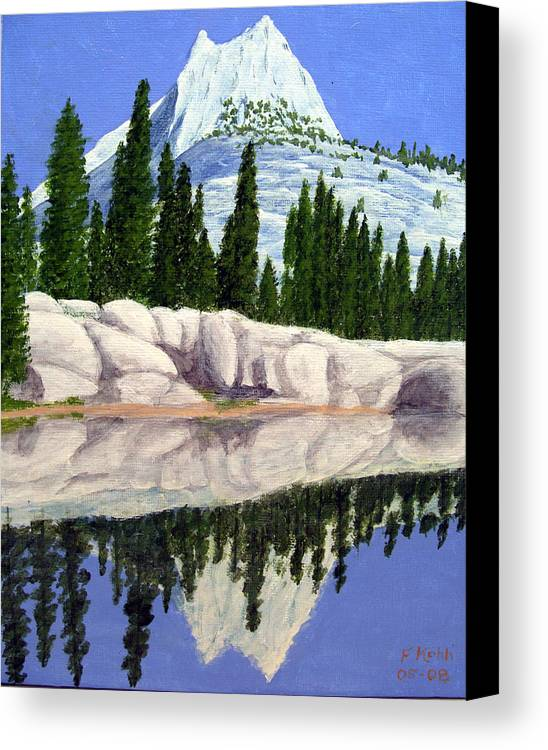 Landscape Paintings Canvas Print featuring the painting Cathedral Peak by Frederic Kohli