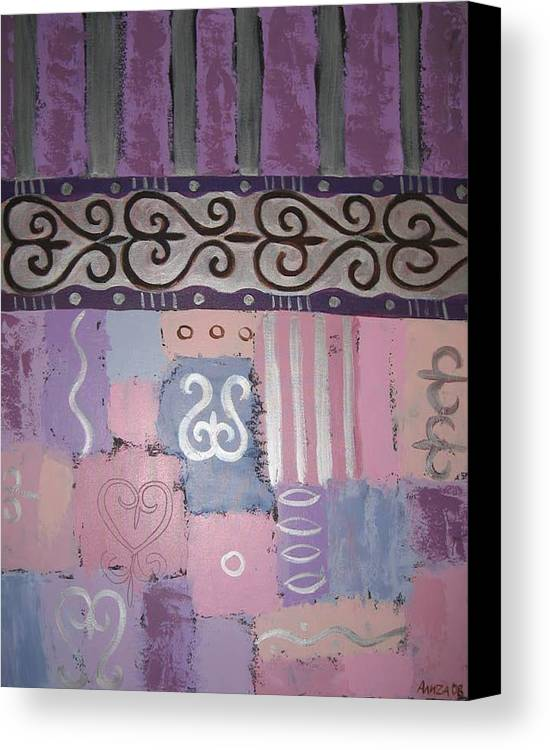Abstract Canvas Print featuring the painting Composition 2 by Aliza Souleyeva-Alexander
