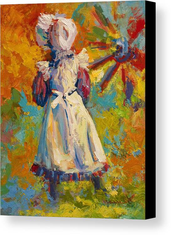 Figure Canvas Print featuring the painting Country Girl by Marion Rose