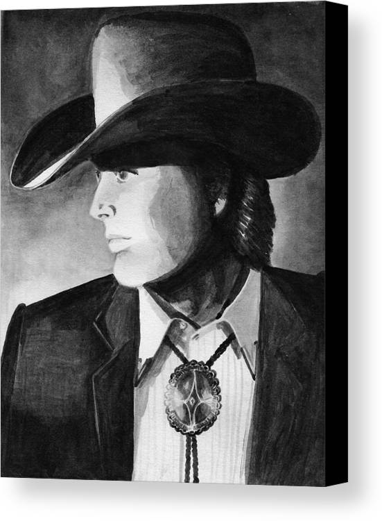Cowboy Canvas Print featuring the painting Cowboy by Sharon Crawford