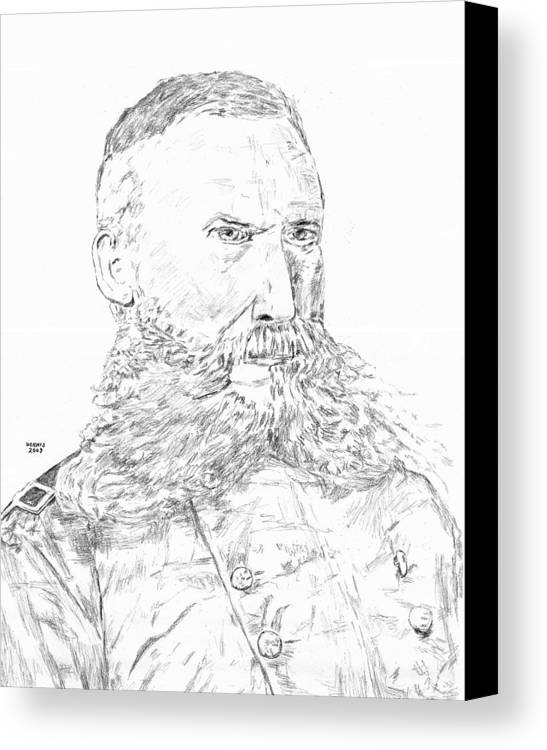 George Crook Canvas Print featuring the drawing Crook by Dennis Larson