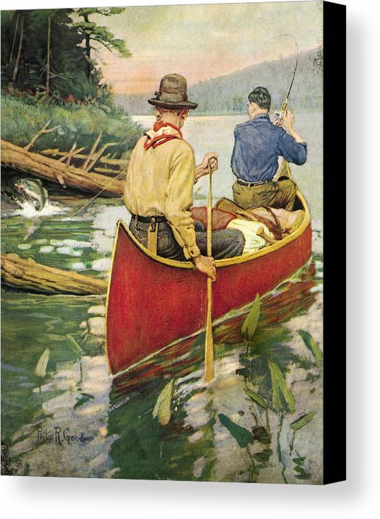 Philip Goodwin Canvas Print featuring the painting Early Morning Thrill by JQ Licensing