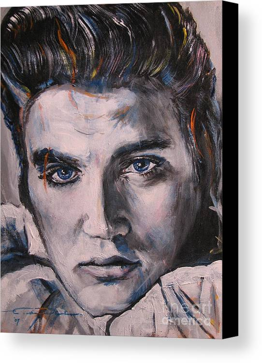 Elvis Presley Canvas Print featuring the painting Elvis 2 by Eric Dee