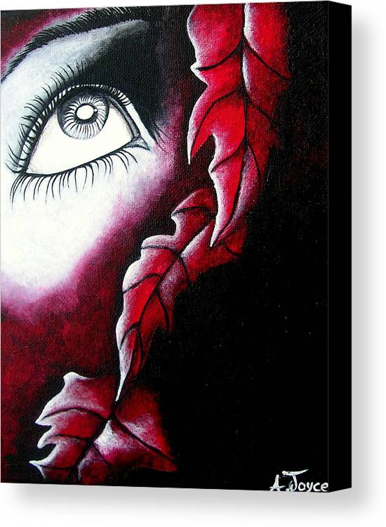 Eyes Canvas Print featuring the painting Eye See Red by Aoife Joyce