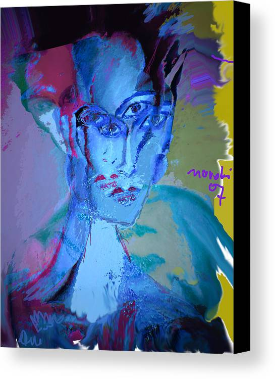 Human Compostion Canvas Print featuring the painting Faces Of Eve by Noredin Morgan
