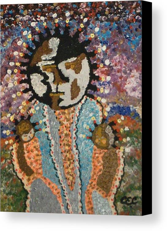 Abstract Canvas Print featuring the painting Fertility Goddess by Carolyn Cable