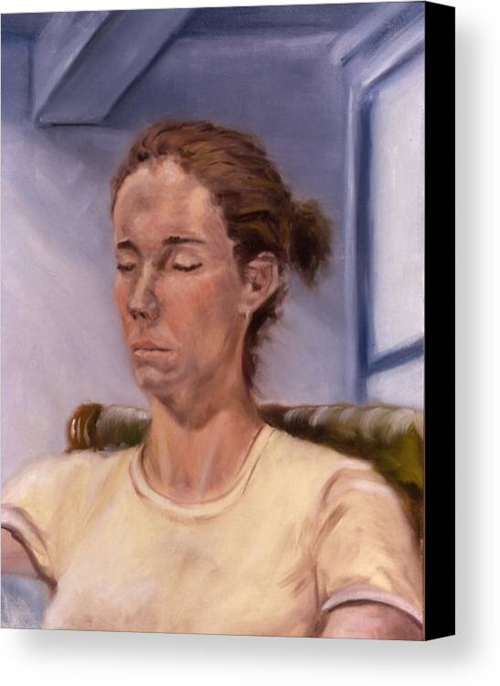 Female Canvas Print featuring the painting Fiona by John Clum