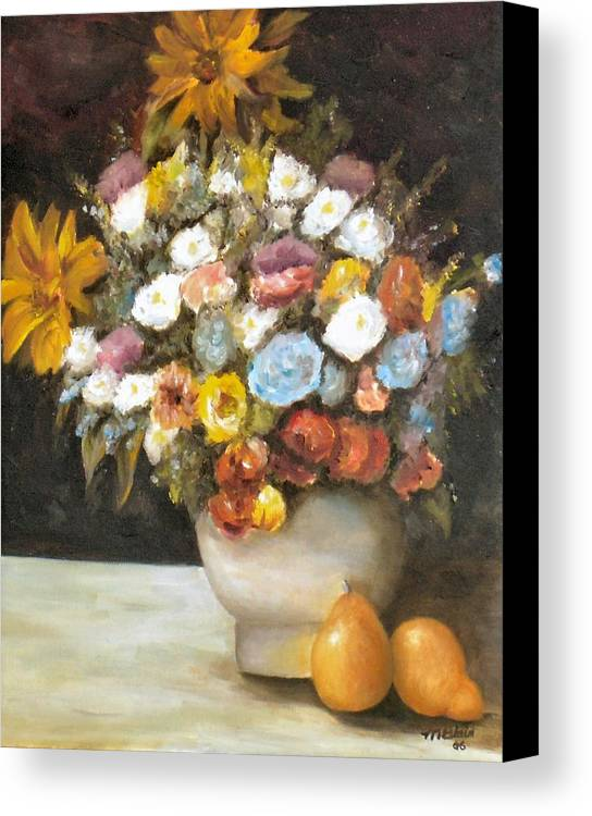 Flowers Canvas Print featuring the painting Flowers After Renoir by Merle Blair