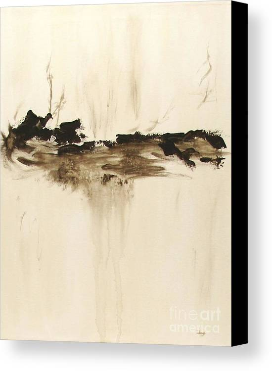 Abstract Canvas Print featuring the painting Forgotten  by Itaya Lightbourne