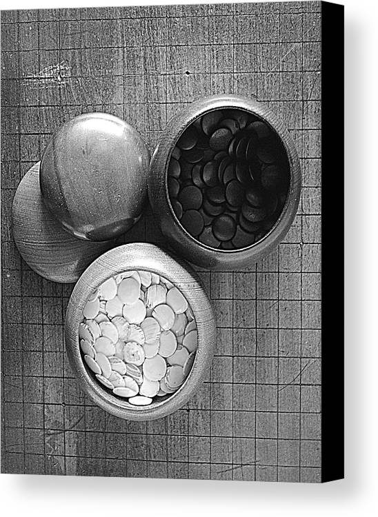 Go Canvas Print featuring the photograph Game Of Go by Lori Seaman