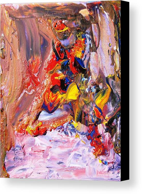 Junk Canvas Print featuring the painting Garbage Falls by Bruce Combs - REACH BEYOND
