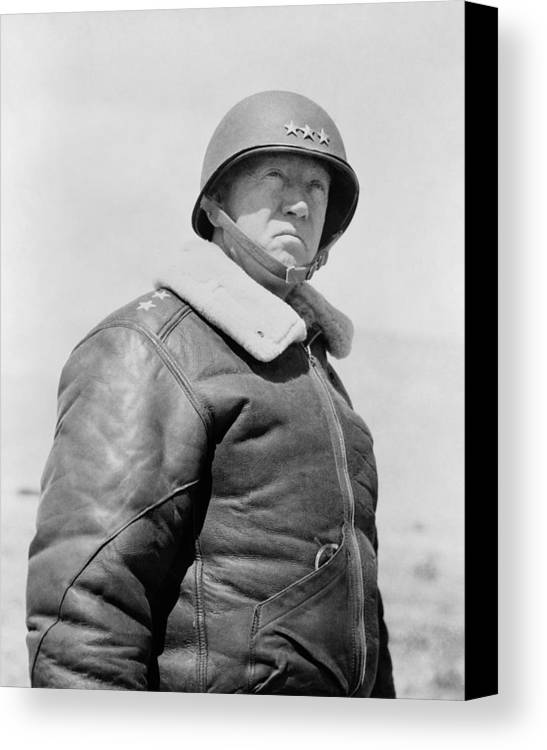 General Patton Canvas Print featuring the photograph General George S. Patton by War Is Hell Store