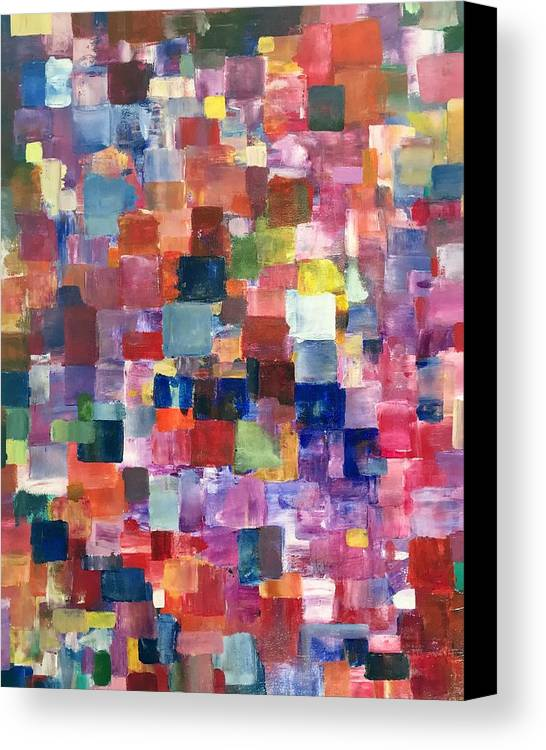 Abstract Canvas Print featuring the painting Glowing From Within by Shawn Brandon