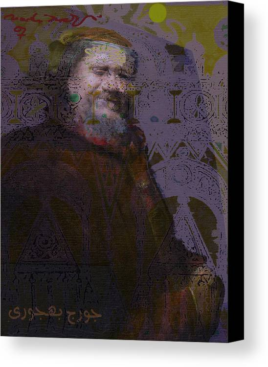 Canvas Print featuring the painting Goerge Bahgory by Noredin Morgan