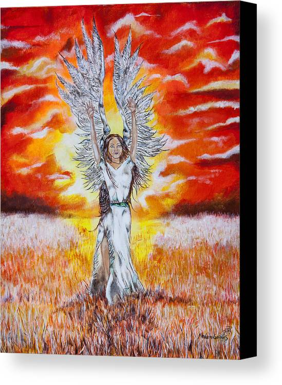 Angel Canvas Print featuring the painting Grace by Medardo Gonzales