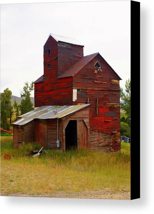Grane Elevator Canvas Print featuring the photograph Grain Elevator by Marty Koch