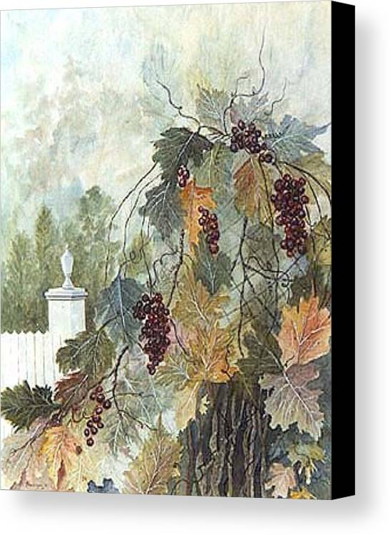 Fruit Canvas Print featuring the painting Grapevine Topiary by Ben Kiger