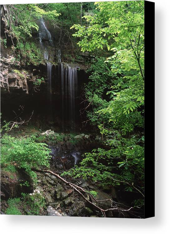 Canvas Print featuring the photograph Green-falls by Curtis J Neeley Jr
